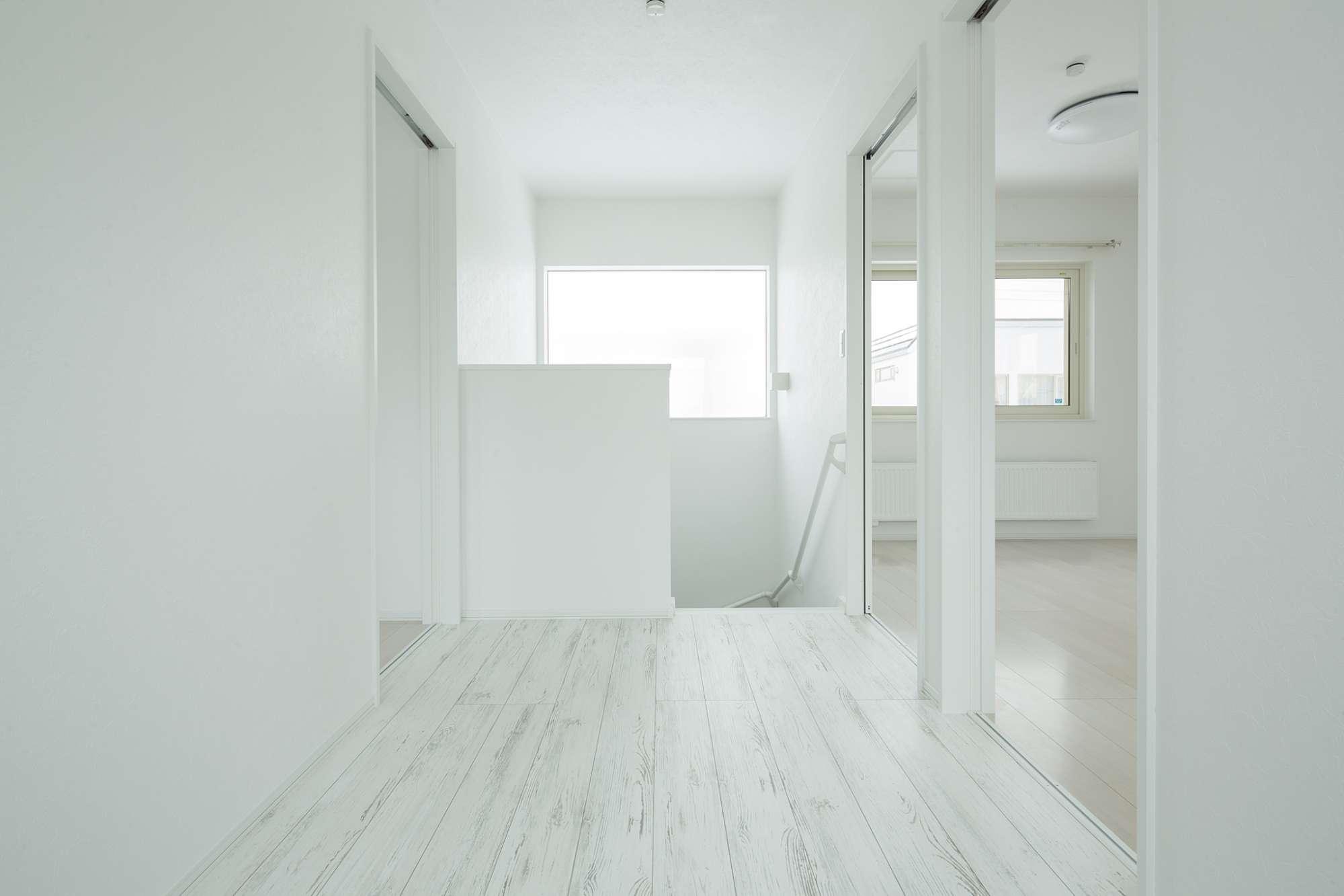 2階は部屋の前にフリースペースをプラン -  -  -